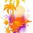 Abstract summer illustration — Stock Vector