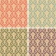 Damask seamless pattern — Vettoriali Stock