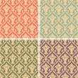 Damask seamless pattern — 图库矢量图片