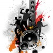 Royalty-Free Stock Vector Image: Illustration with rock band