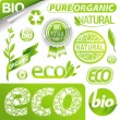 Collection of eco signs & emblem — Vettoriale Stock