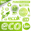 Collection of eco signs & emblem — Vecteur
