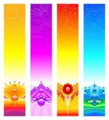 Abstract design banners — Stock Vector