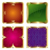 Golden ornate frames — Stock Vector