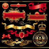 Element złoty królewski projekt — Wektor stockowy