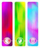 Tre abstrakt banners — Stockvektor