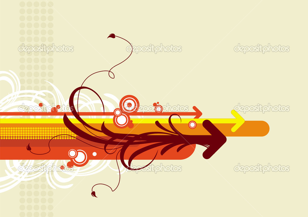 Abstract vector background with arrows. — Stock Vector #1720302