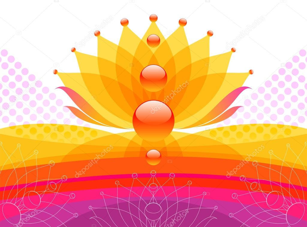 Vector abstract flower design. — Stock Vector #1720365
