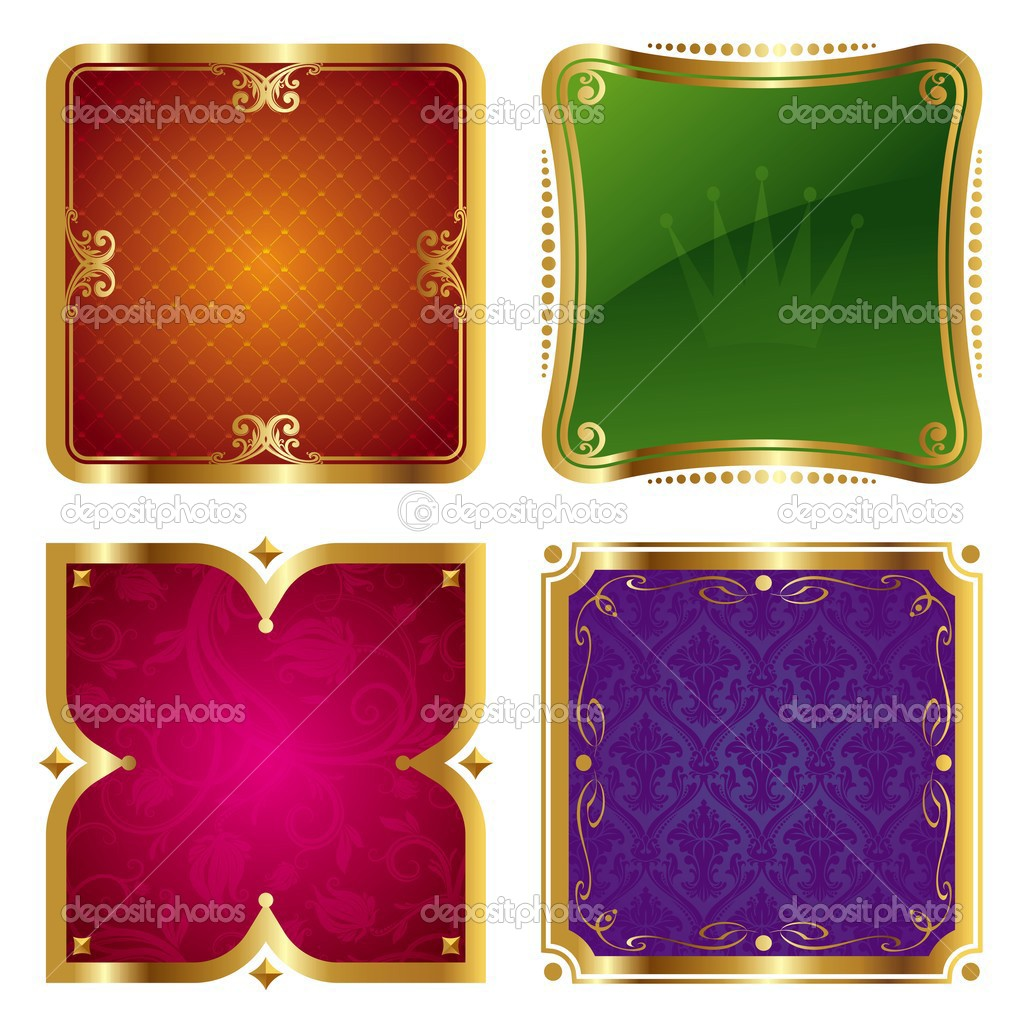Vector golden ornate frames. — Stock Vector #1720622