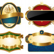 Royalty-Free Stock Imagen vectorial: Collection of golden ornate labels