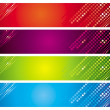 Four multicolored banners — Stock Vector