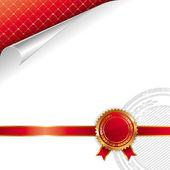 Golden-red royal design — Stock Vector