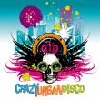 Stock Vector: Crazy urban disco
