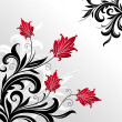 Decorative floral illustration - Stock Vector