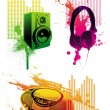 Audio equipments - Stock Vector