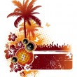 Vector de stock : Tropical party