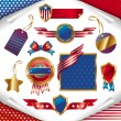 Vector set of usa signs & labels — Stock Vector