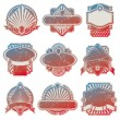 Stock Vector: Vector collection of vintage uslabels