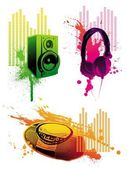 Audio equipments — Stock Vector