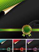 Royal design with golden seal — Stock Vector