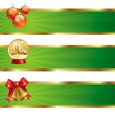 Three christmas banners — ストックベクタ