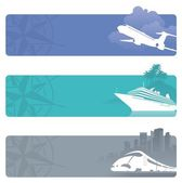Vector travel banners — Vector de stock