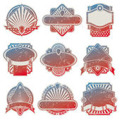 Vector collection of vintage usa labels — Stock Vector
