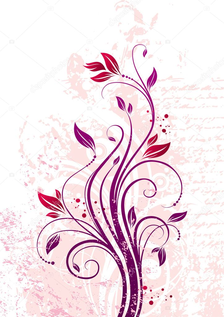 Vector floral ornate branch. — Stock Vector #1775318
