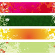 Collection of ornate floral banners — Stock Vector #1792533