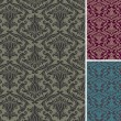 Damask seamless pattern — Stock vektor