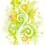 Floral-grunge illustration — Stock Vector
