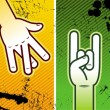 Four hand signs — Stock Vector
