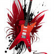 Stock Vector: Heavy metal guitar
