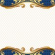 Ornate golden frame — Vector de stock