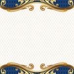 marco de oro adornado — Vector de stock