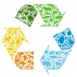 Recycled logo - Stock Vector