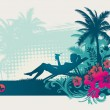 Rest in tropics — Image vectorielle