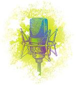Studio condenser microphone — Stock Vector