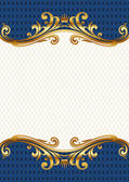Ornate golden frame — Stock Vector