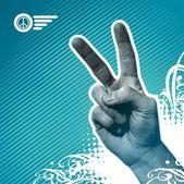 Peace hand — Stock Vector
