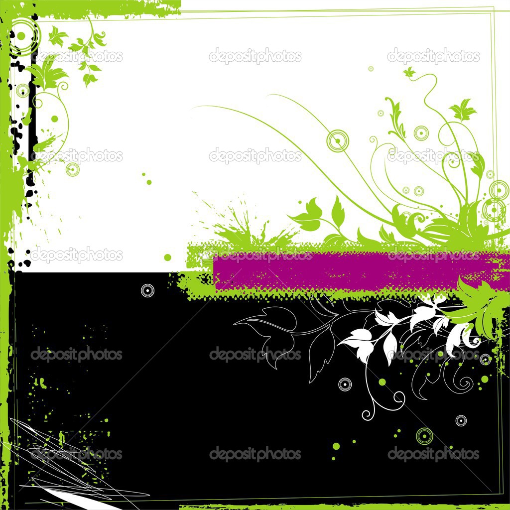 Vector floral grunge background. — Stock Vector #1792825
