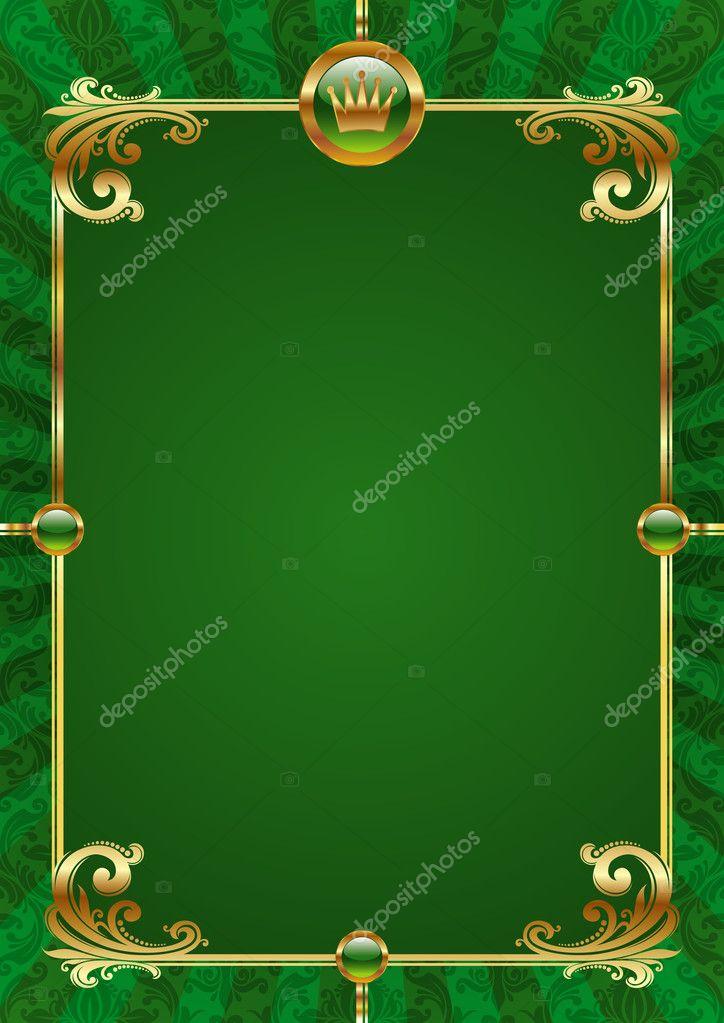 Зеленые рамки для открыток