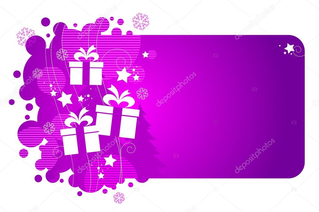 Vector frame with holiday gifts. — Stock Vector #1793573