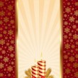 Background with Christmas candles - Stock Vector