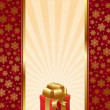 Background with Christmas gift — Stock Vector