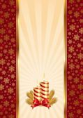 Background with Christmas candles — Stock Vector