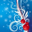 Royalty-Free Stock Vector Image: Blue background with Christmas toys