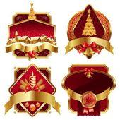 Christmas ornate frames — Stock Vector