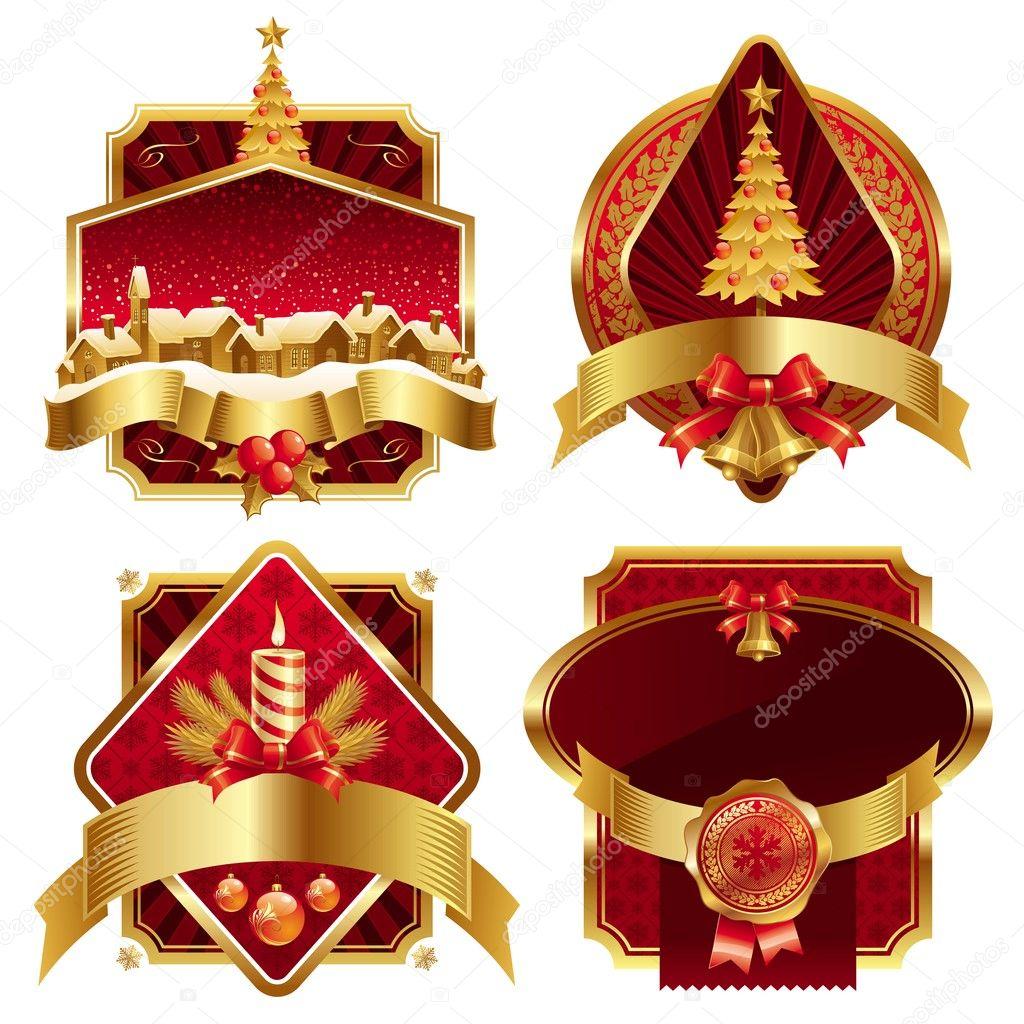 Vánoční ozdobné rámečky — Stock Vektor © S-E-R-G-O #1842840: cz.depositphotos.com/1842840/stock-illustration-christmas-ornate...