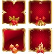 Stock Vector: Holidays luxury golden frames
